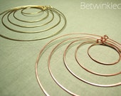 Deanna Earrings Set (Brass/Copper)