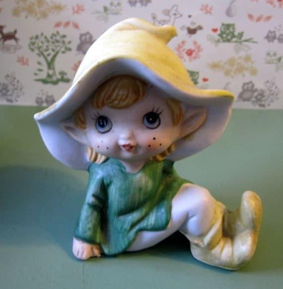 SALE Vintage Elvish Pixie Figurine