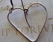 Fine Silver Heart Earrings I Love Me