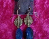 QUEEN  Hapsetsui  African Lapis Lazuli  Earrings