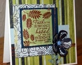 Hand Stamped Embossed Card by CardsbyCarla on Etsy