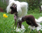 Custom needle felted sculpture of your dog or cat - Example Chinese Crested sculpture