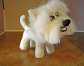 SALE - Will the needle felted white West Highland terrier - westie - soft dog plushie sculpture
