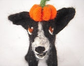 Custom needle felted sculpture of your dog or cat - medium sized simple coat