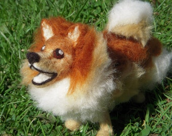 Custom Needle Felted Dog, Pomeranian Sculpture or the Breed of you Choice