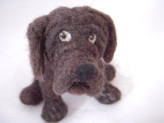 Cute needle felted model of your cat or dog - medium sized Personalised Dog Sculpture - Dog lovers Gift