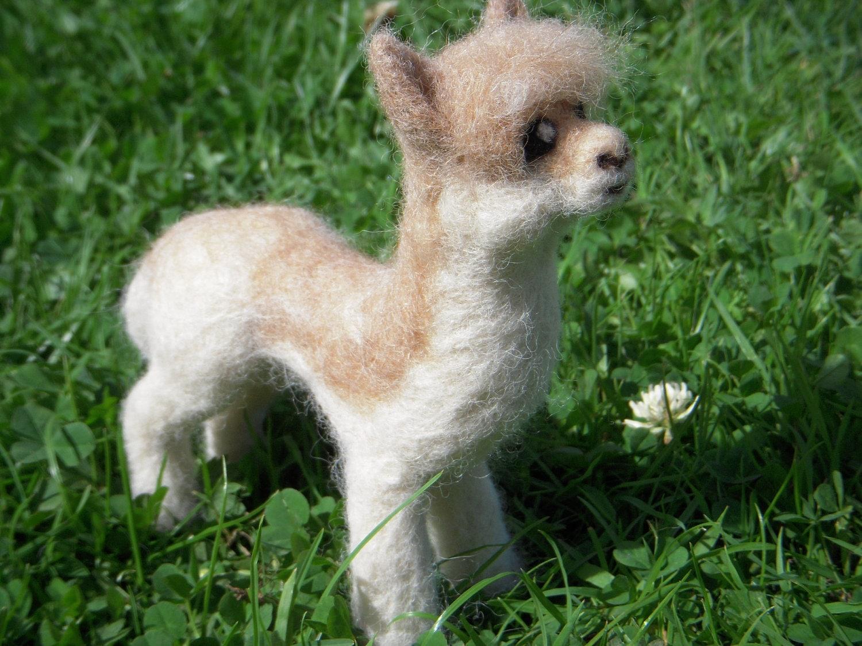 Alpaca Needle Felted Mini Sculpture
