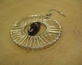 Wrapped Wire Amethyst  Hoop Earrings EBTW Little Black Dress
