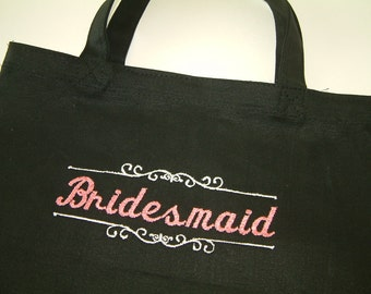 Embroidered Bridesmaids Tote Gift Bag