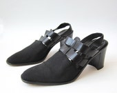 Vintage Avant Garde Strappy Platform Sandals Size 8.5M