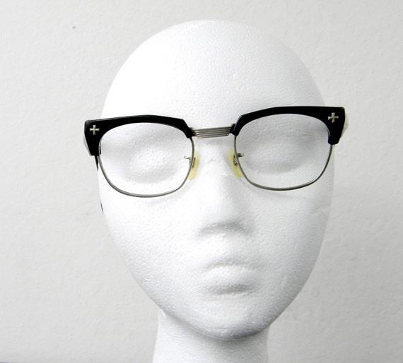 Vintage 1950s Black Wayfarer Eyeglass Frames