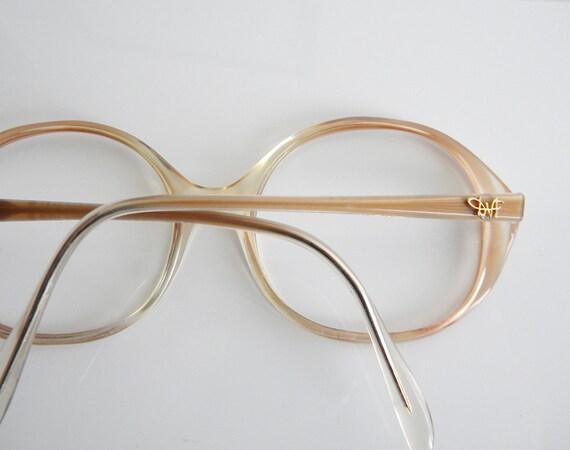 Vintage 1970s DVF Peach Brown Eyeglasses Frames