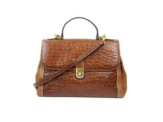 25% OFF - 1980s Tan Crocodile Satchel Bag