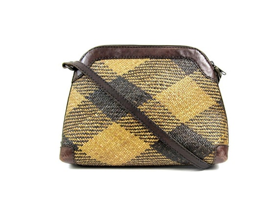1970s Straw Cross Body Bag