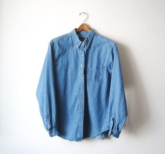 Vintage Stone Wash Denim Oversized Shirt Size S,M,L