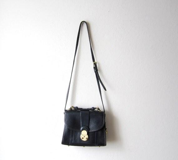 RESERVED - Vintage Dooney & Bourke Navy Satchel Bag