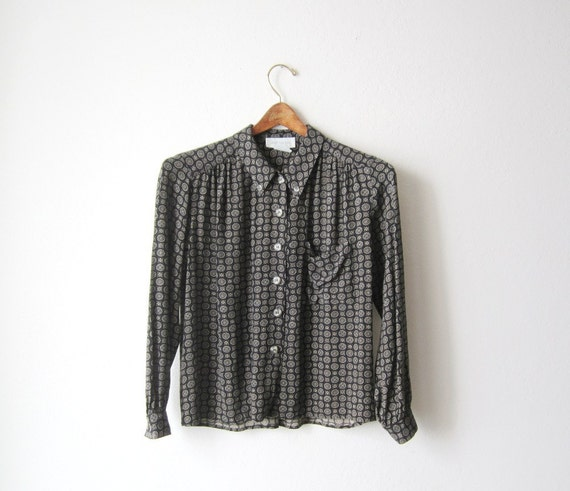 Vintage Jones New York Button Down Cropped Shirt Size Extra Small