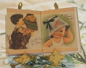 Miniature book  for dollhouse Cute Babies
