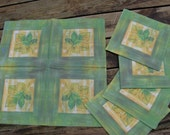 DESTASH - 15 Decoupage Paper Napkins for only 2 Dollars - LEAVES -