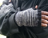 Shades Of GRAY / Fingerless Gloves For Men - yarncoture