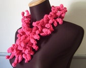 Hot Pink Anemone Art Scarf