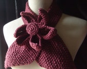 The Lotus - Vintage Inspired Ascot Necktie In Plum -  Bamboo Silk