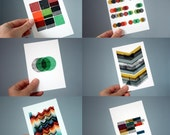 Blocks & Boxes postcards - set of 6