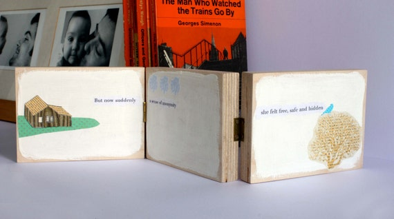 Hidden - a bigger wooden book