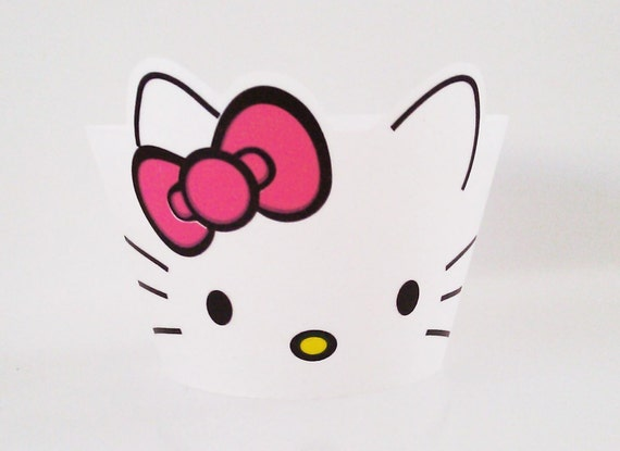 Hello Kitty style Cupcake Wrappers
