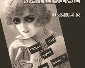 MATERIAL Art Zine Issue 3 - Mixed Media - Altered Art - Art Zine on CD - Includes Vintage Clip Art for Collage Artists
