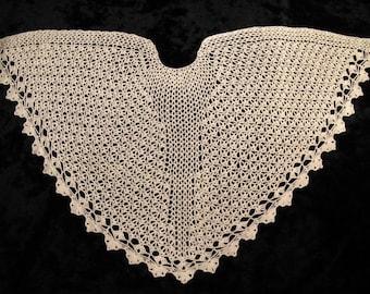 PDF Pattern Ice Crystal Crochet Faroese Shawl