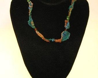 Summer Dreams OOAK Freeform Beadwork Necklace
