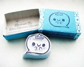 Obake Ghost Chan Hand Carved Stamp - Carved and Boxed Series