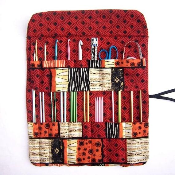 Knitting Needle Organizer : Knitting needle storage holder crochet hook case organizer