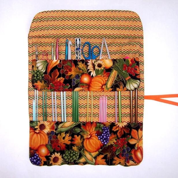 Knitting Organizer Case : Knitting needle storage holder crochet hook case organizer