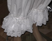 DDNJ White or Cream Cotton Victorian Style Lace Bloomers Plus Custom Made ANY Size Costume Renaissance Gypsy Pirate Pantaloons Civil War