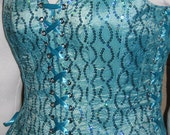 DDNJ Choose Fabric Reversible Bodice Style Corset Plus Custom Made ANY Size Renaissance Fairy Pirate Prom Costume Anime Cosplay Medieval