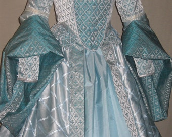 DDNJ OOAK 8 pc Fantasy Gown Choose Fabric(s) U Design Plus Custom Made ANY Size Queen Princess Mardigras Court Renaissance Royalty  Wedding