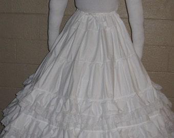 DDNJ Choose Color Multi Tier Crinoline Petti Skirt Hoop Custom Made ANY Size Renaissance Civil War Victorian Wedding Cosplay LARP Anime