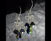 Jewelry Tutorials Earrings -Crystal Wire Loop Earrings No 39