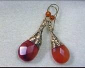 Instant Download  TUTORIAL Jewelry  Earrings  -   Wire Wrapped Earrings Carnelian Gemstone No 9