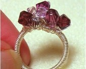 Instant Download TUTORIAL Jewelry Wire Ring  Wire wrap crystal ring   How to make a  Wire Wrapped Crystal Ring No 19.