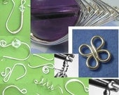 Instant Download TUTORIAL  Earwires and Basics - 8 different earwires - 4 ring connector loop -  herringbone weave and wrapped loops No 41