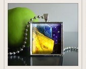 Van Gogh  oNE iNCH  Photo Pendants  5 to choose from....in Silver Frame with 24 inch Silver Plated Bead Chain..