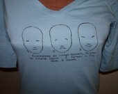 French T-shirt with French Diction Faces XS/Small