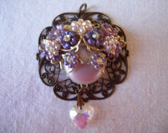 Handmade Purple Passion Pendant