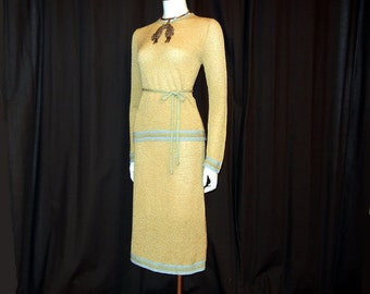 1960s Bonnie Cashin / Vintage 60s Knit Sweater Top and Skirt Set