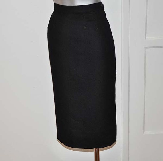 f8d72d8283 ... Mad Men Pencil Skirt: 1950s Skirt / Vintage 50's Pencil Skirt MAD By