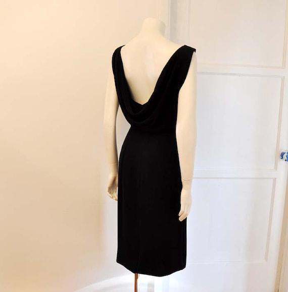 Draped Low Cut Back Jonny Herbert Vintage 50's Date Wiggle Dress