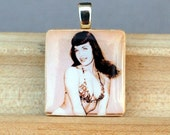 Bettie in bathing suit scrabble pendant-FREE SHIPPING